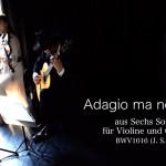 バッハ作曲のヴァイオリンとチェンバロの為のソナタを編曲しました